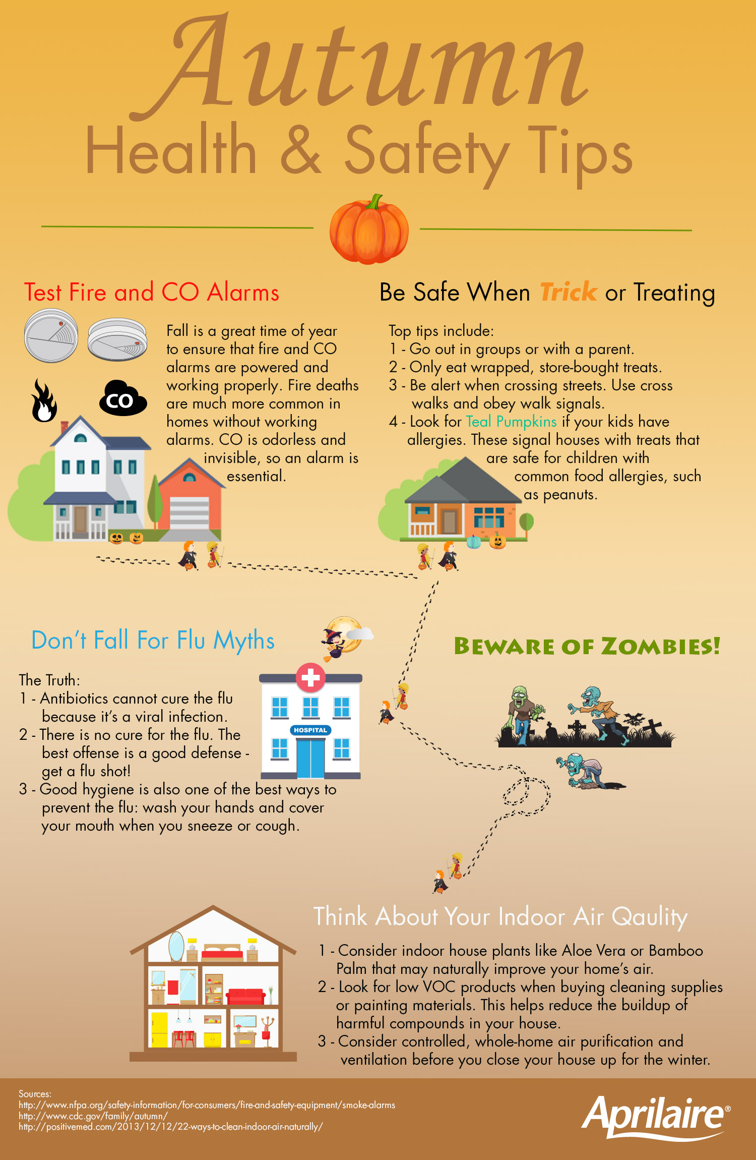 Autumn Health and Safety Tips Aprilaire #B98112
