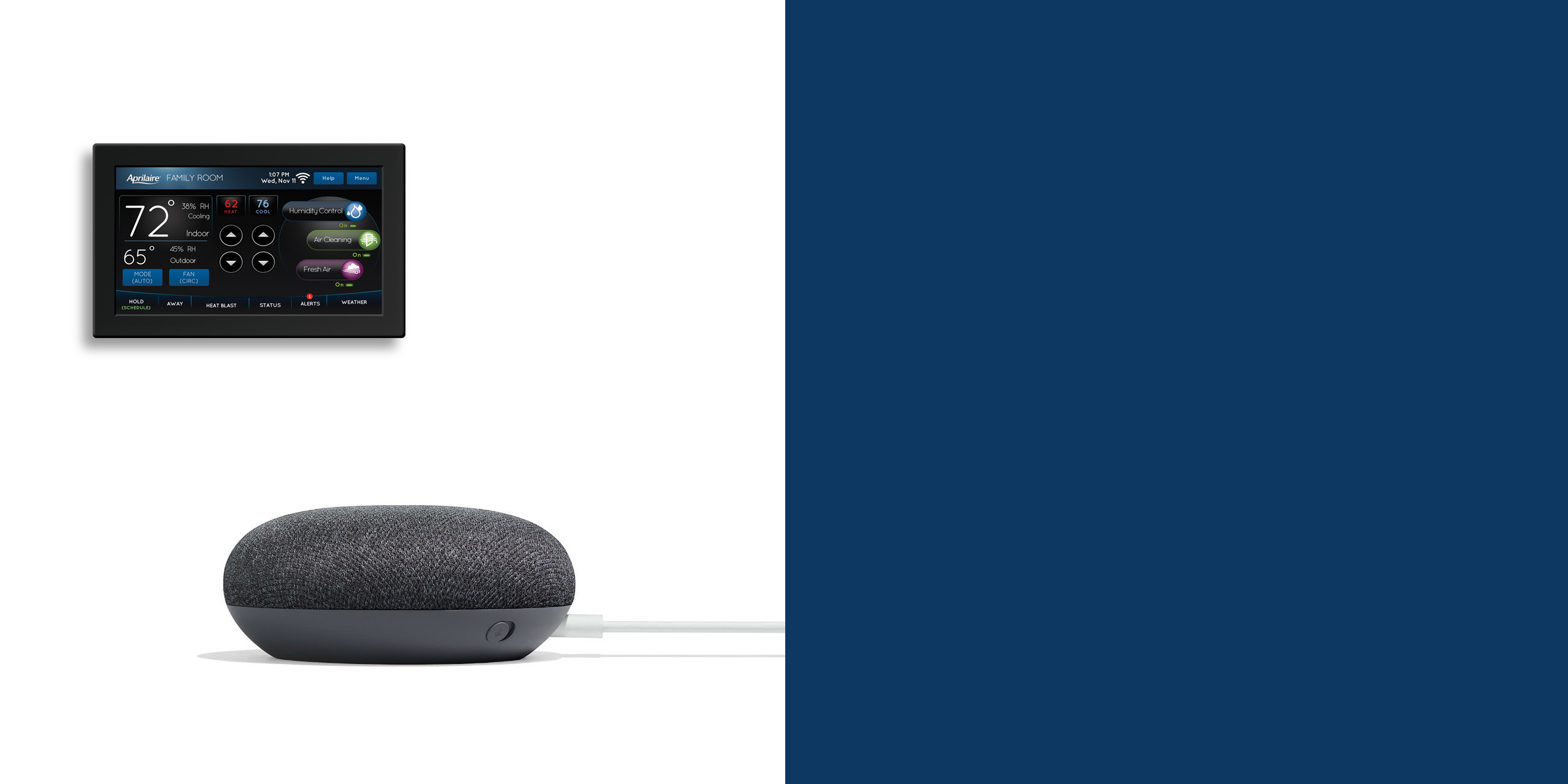 Google Home Mini Charcoal Side View Cropped for Banner