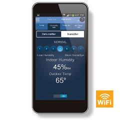 Iphone Showing Humidity Control by Aprilaire