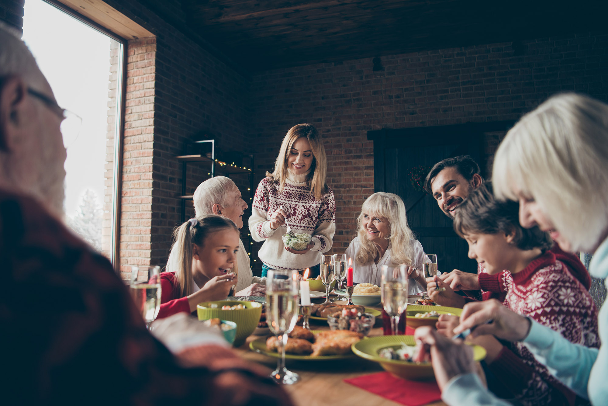 Family Gathering in a Healthy Home