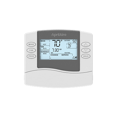 The Aprilaire Model 8465 Thermostat is a basic programmable thermostat that allows you to create personalized programs based on your lifestyle.