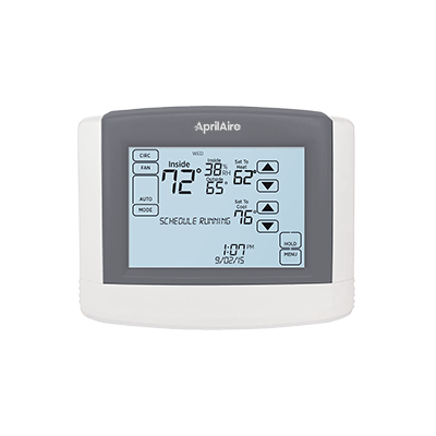 APRILAIRE 8600 UNIVERSAL TOUCH SCREEN, MULTI-STAGE 2H/2C OR 4H/2C HEAT PUMP, DUAL POWERED MC321616