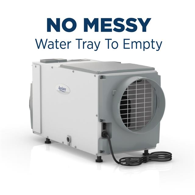 Dehumidifier-1830-NoMessyWaterTray-Basement-Crawlspace-EasyMaintenance