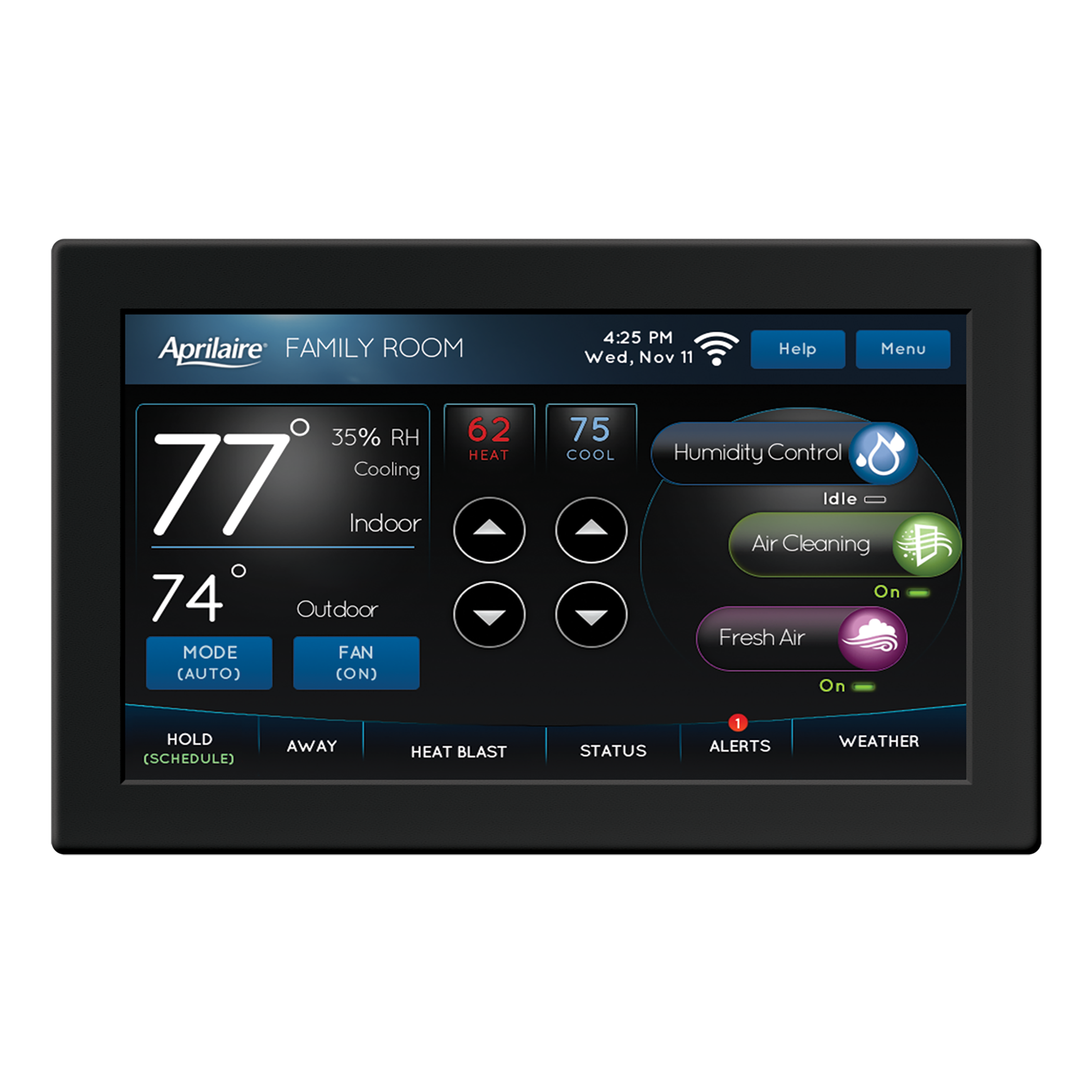 Aprilaire-Model-8920W-Thermostat-Control-Panel